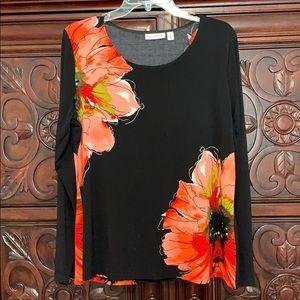 Susan Graver Printed Floral Top